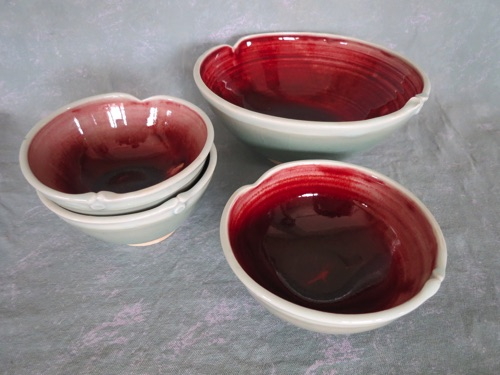"Small Berry Bowls (4.5"") $ 45  Medium Bowl (8"") $ 95"